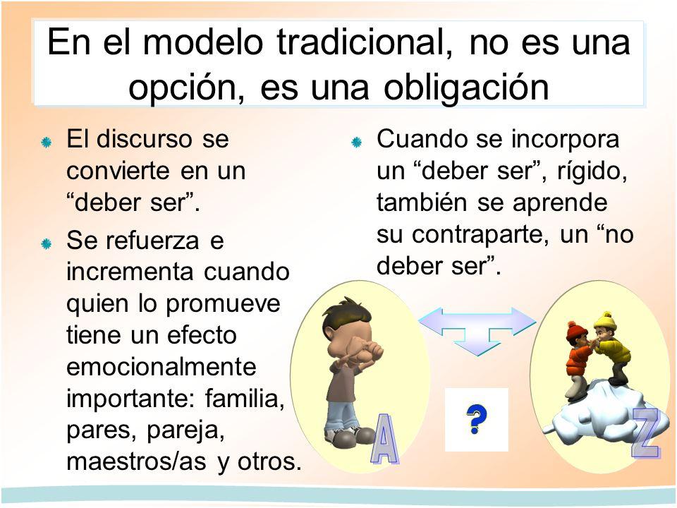 En el modelo tradicional, no es una opción, es una obligación