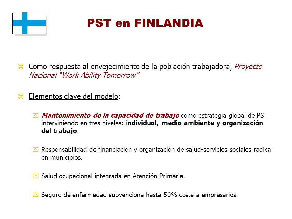 PST en FINLANDIA Como respuesta al envejecimiento de la población trabajadora, Proyecto Nacional Work Ability Tomorrow
