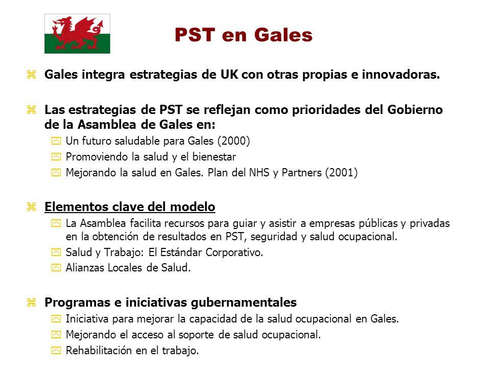 PST en Gales Gales integra estrategias de UK con otras propias e innovadoras.