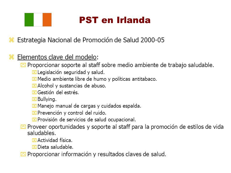PST en Irlanda Estrategia Nacional de Promoción de Salud 2000-05