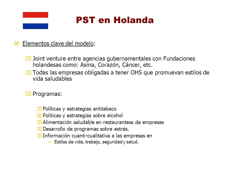 PST en Holanda Elementos clave del modelo:
