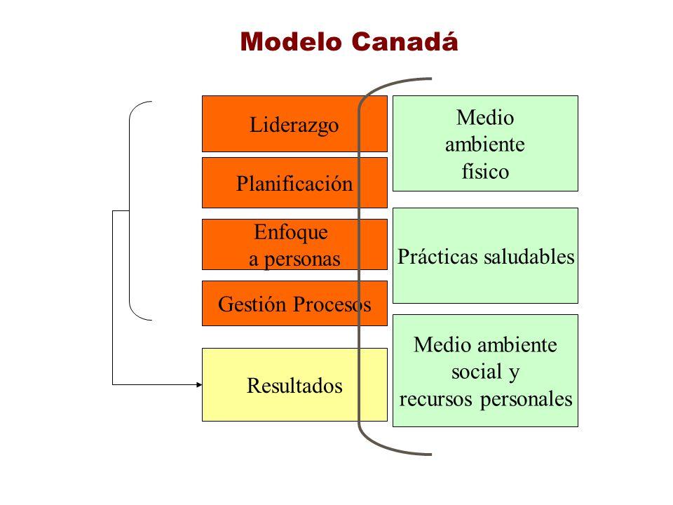 Modelo Canadá Medio Liderazgo ambiente físico Planificación Enfoque