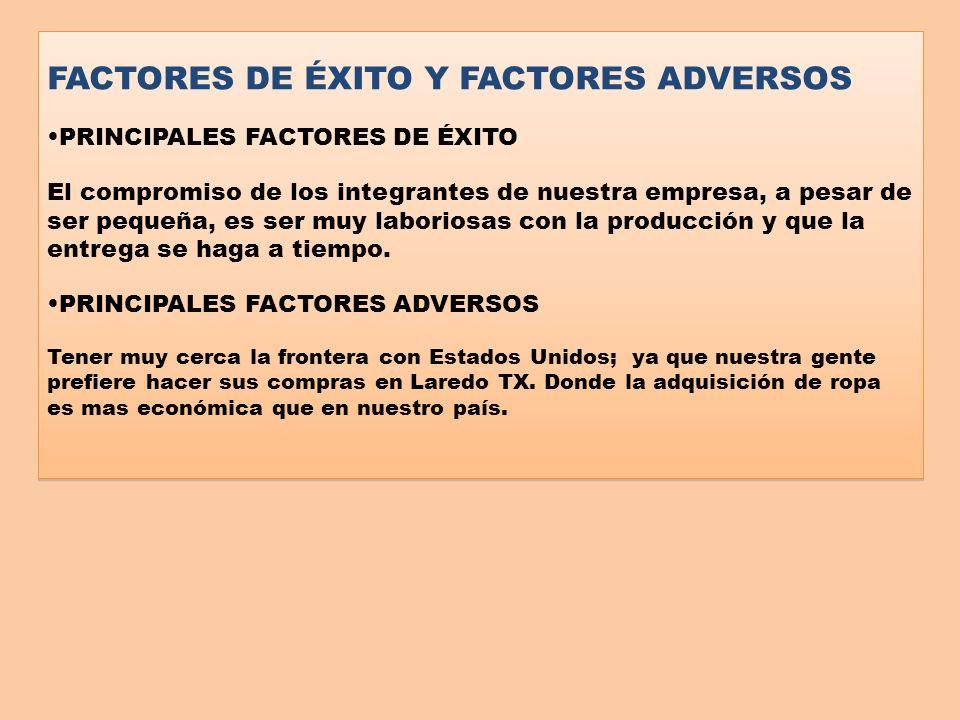 FACTORES DE ÉXITO Y FACTORES ADVERSOS