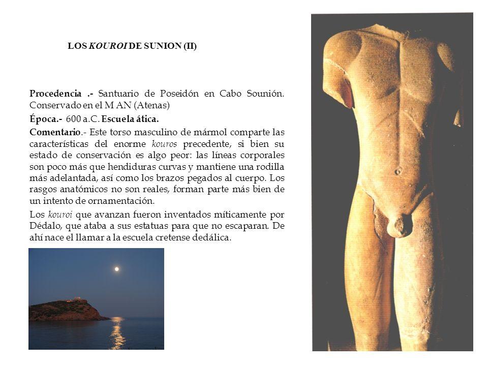 LOS KOUROI DE SUNION (II)