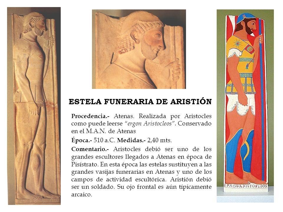 ESTELA FUNERARIA DE ARISTIÓN