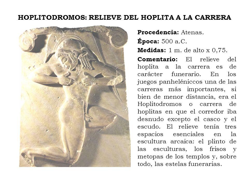 HOPLITODROMOS: RELIEVE DEL HOPLITA A LA CARRERA