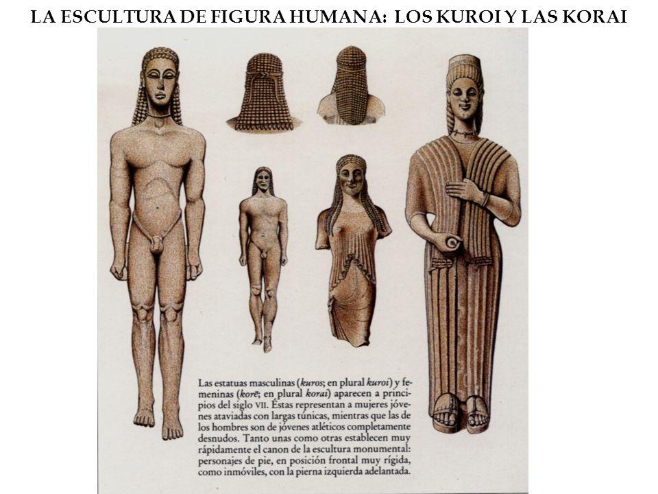 LA ESCULTURA DE FIGURA HUMANA: LOS KUROI Y LAS KORAI