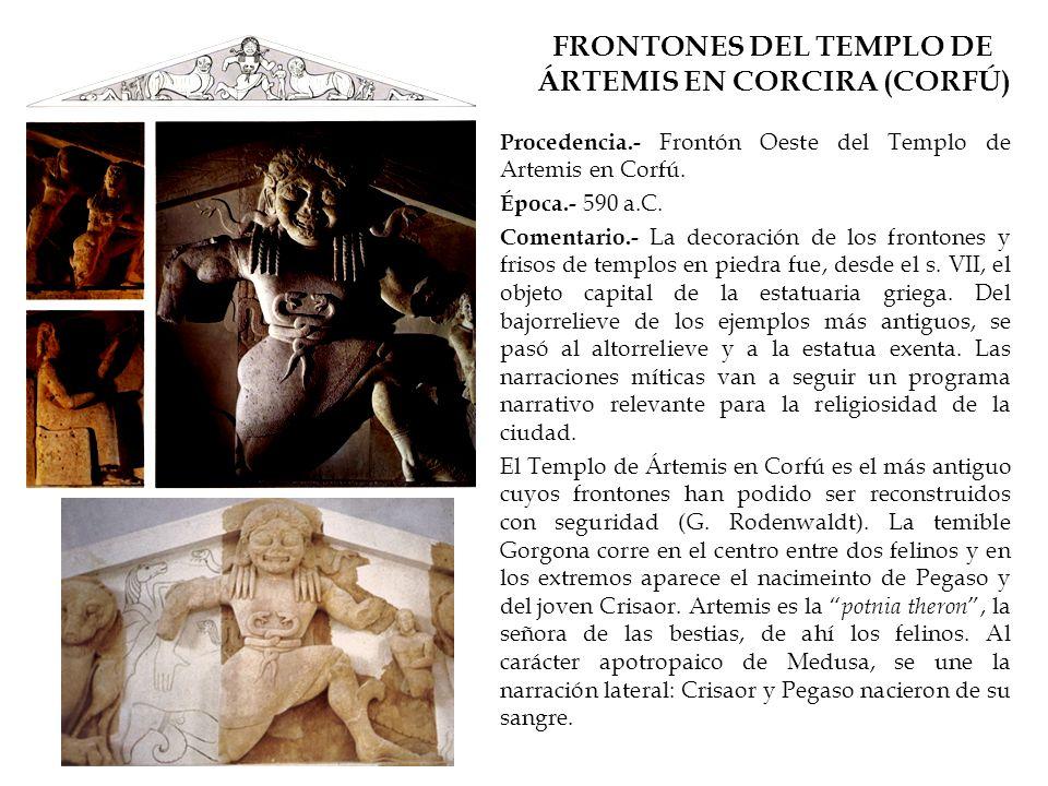 FRONTONES DEL TEMPLO DE ÁRTEMIS EN CORCIRA (CORFÚ)