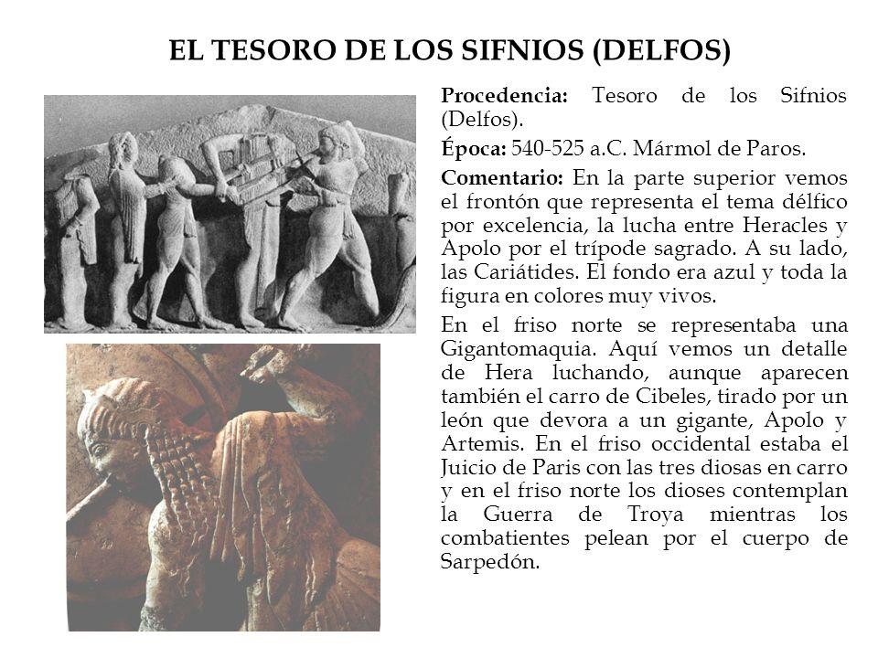 EL TESORO DE LOS SIFNIOS (DELFOS)