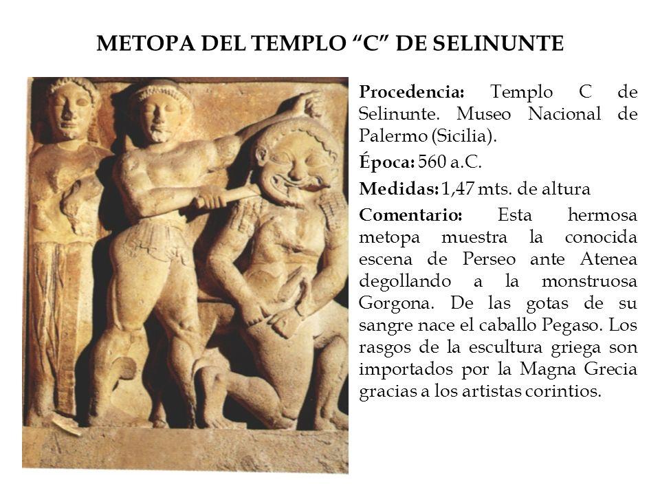 METOPA DEL TEMPLO C DE SELINUNTE