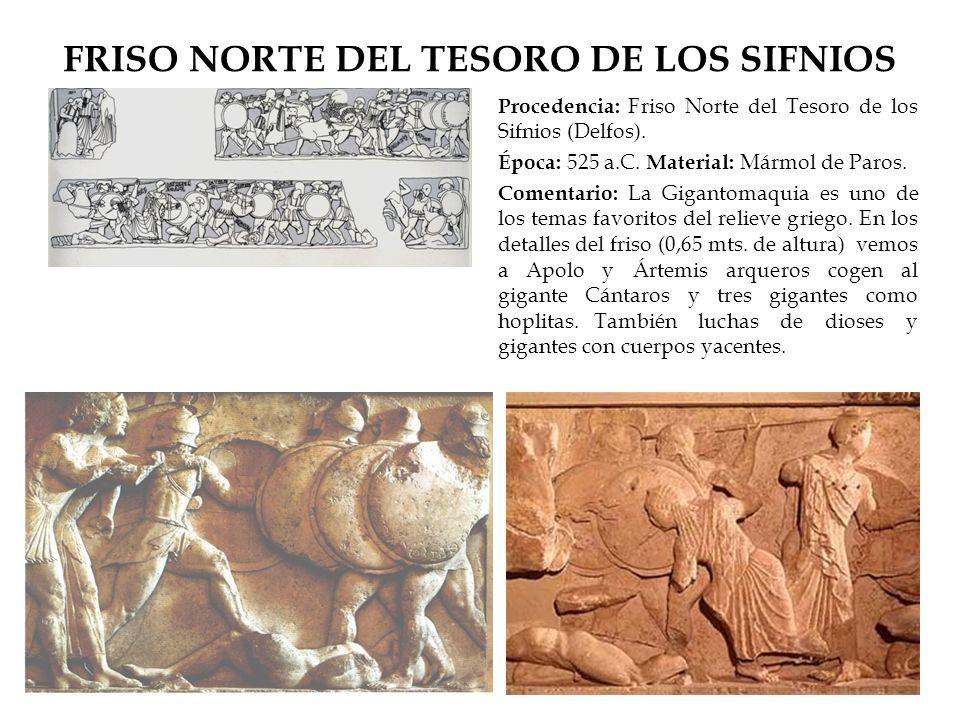 FRISO NORTE DEL TESORO DE LOS SIFNIOS
