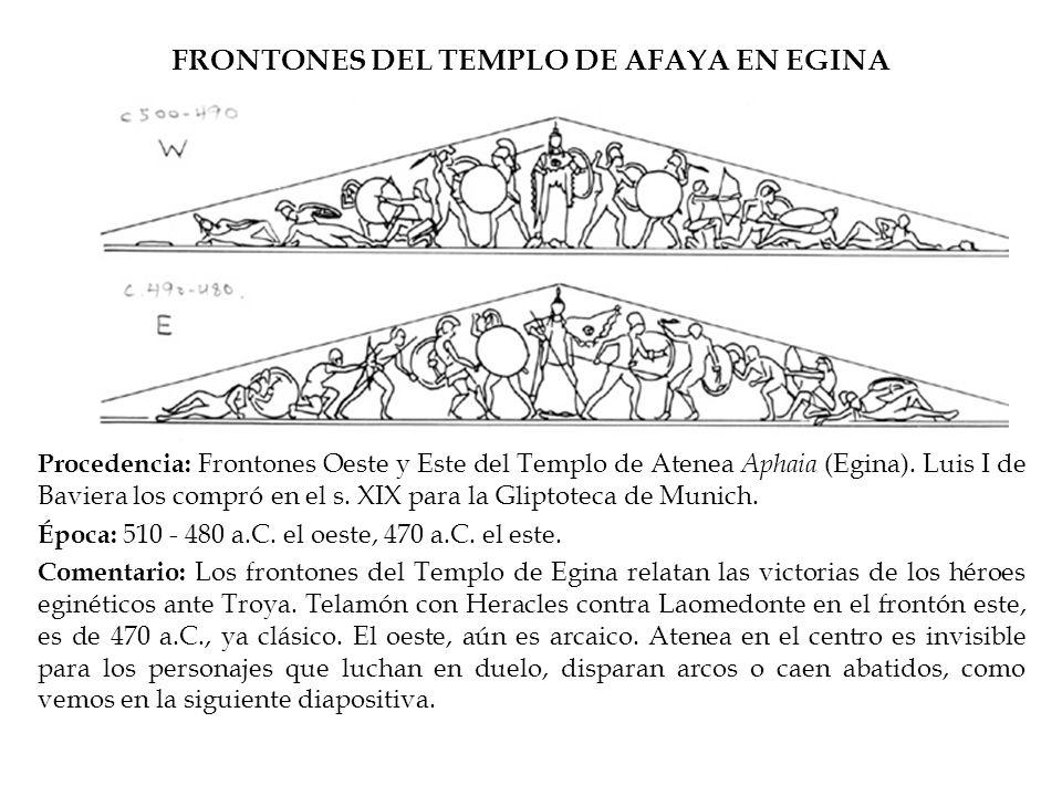 FRONTONES DEL TEMPLO DE AFAYA EN EGINA