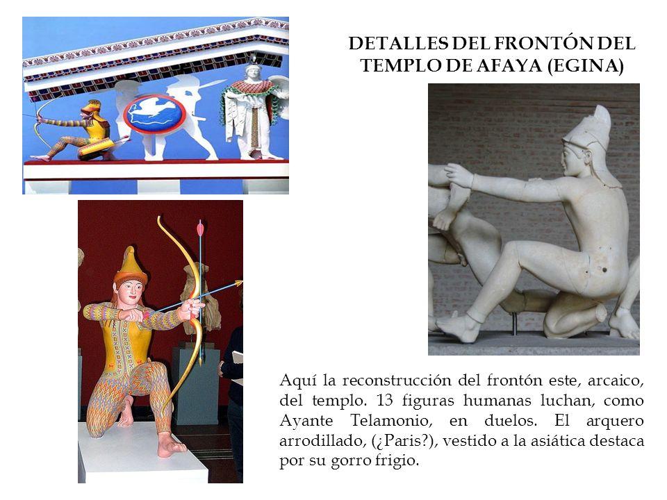DETALLES DEL FRONTÓN DEL TEMPLO DE AFAYA (EGINA)