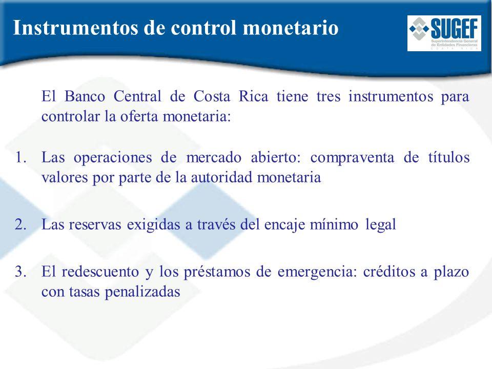 Instrumentos de control monetario