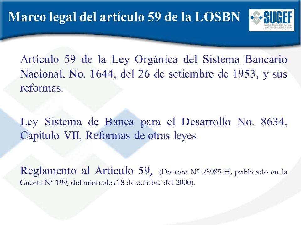 Marco legal del artículo 59 de la LOSBN