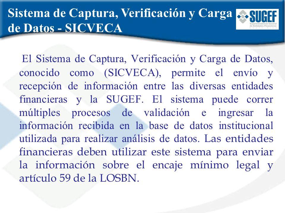Sistema de Captura, Verificación y Carga de Datos - SICVECA