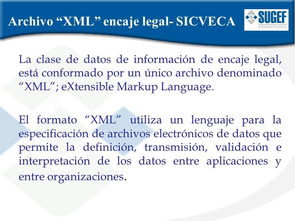 Archivo XML encaje legal- SICVECA
