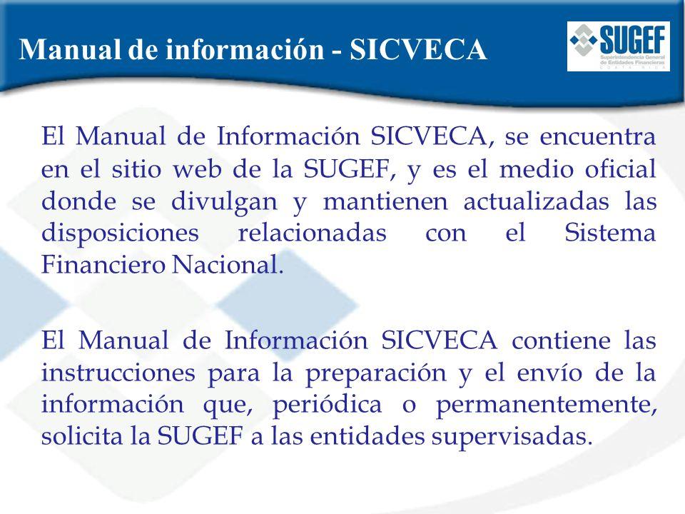 Manual de información - SICVECA