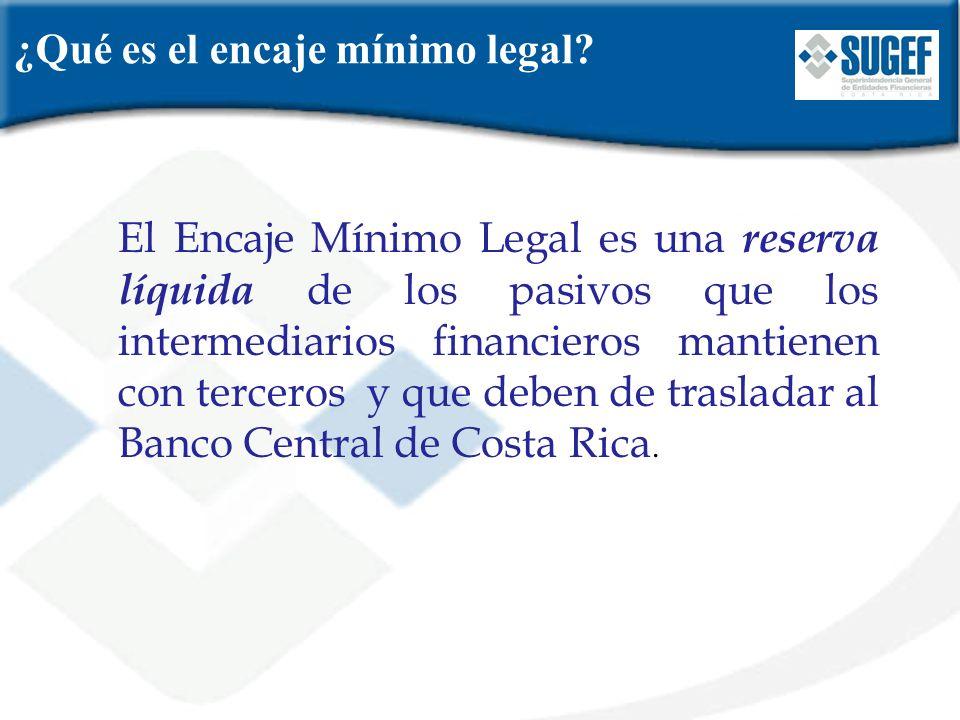 ¿Qué es el encaje mínimo legal