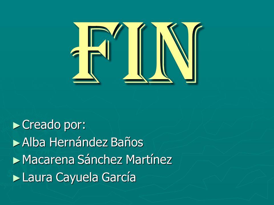 FIN Creado por: Alba Hernández Baños Macarena Sánchez Martínez