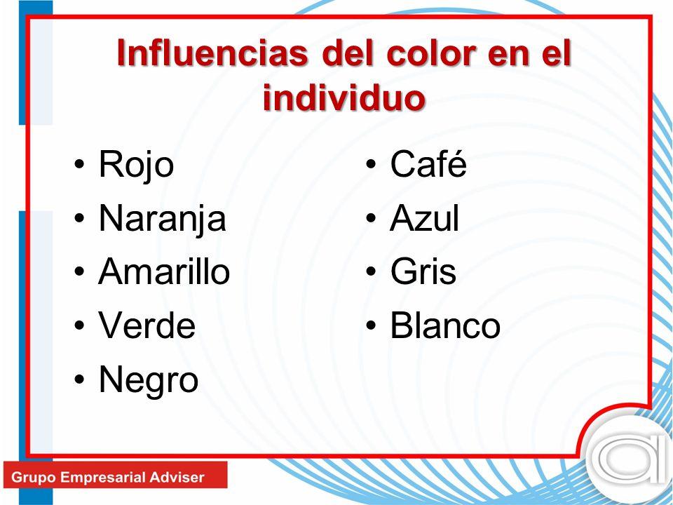 Influencias del color en el individuo