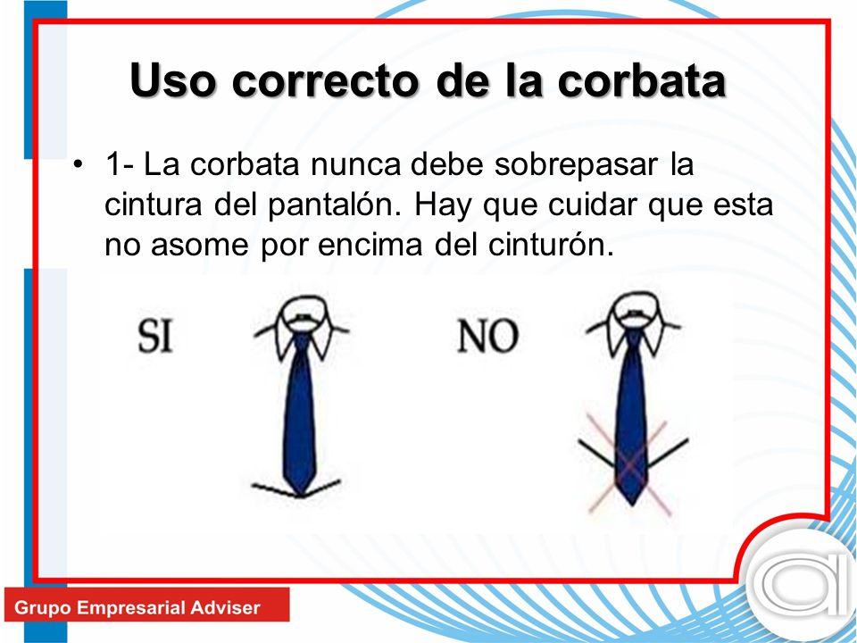 Uso correcto de la corbata
