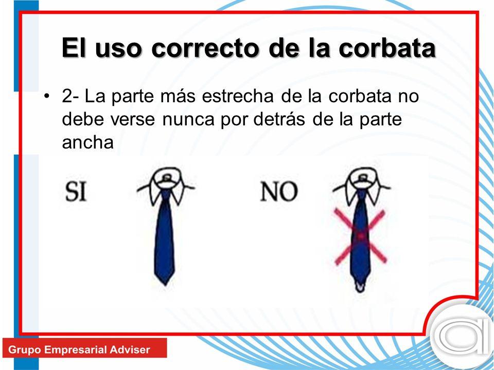 El uso correcto de la corbata