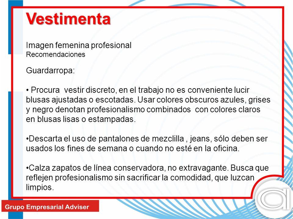 Vestimenta Imagen femenina profesional Recomendaciones Guardarropa: