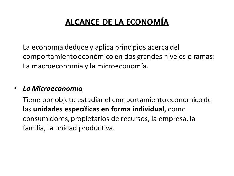 ALCANCE DE LA ECONOMÍA