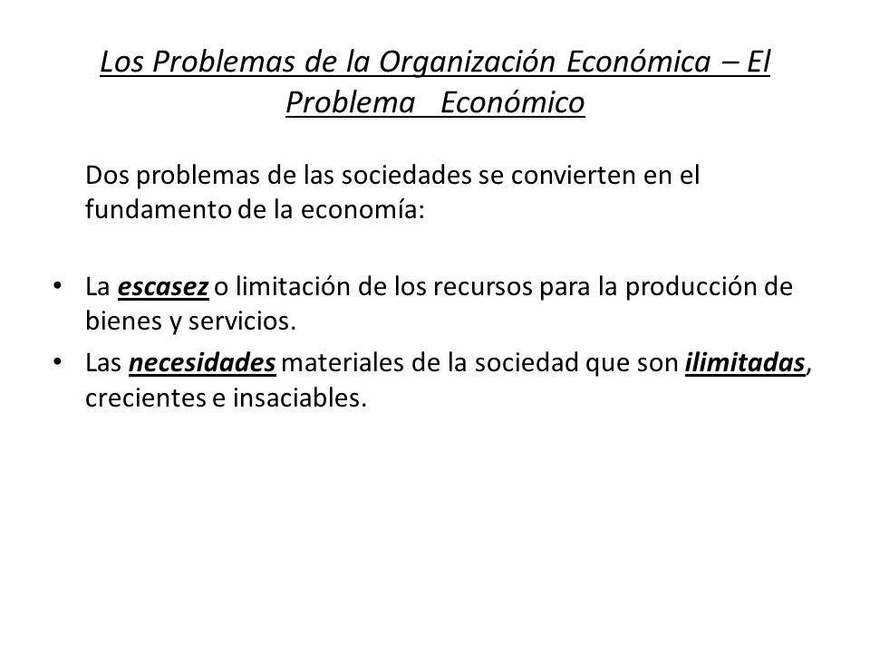 Los Problemas de la Organización Económica – El Problema Económico