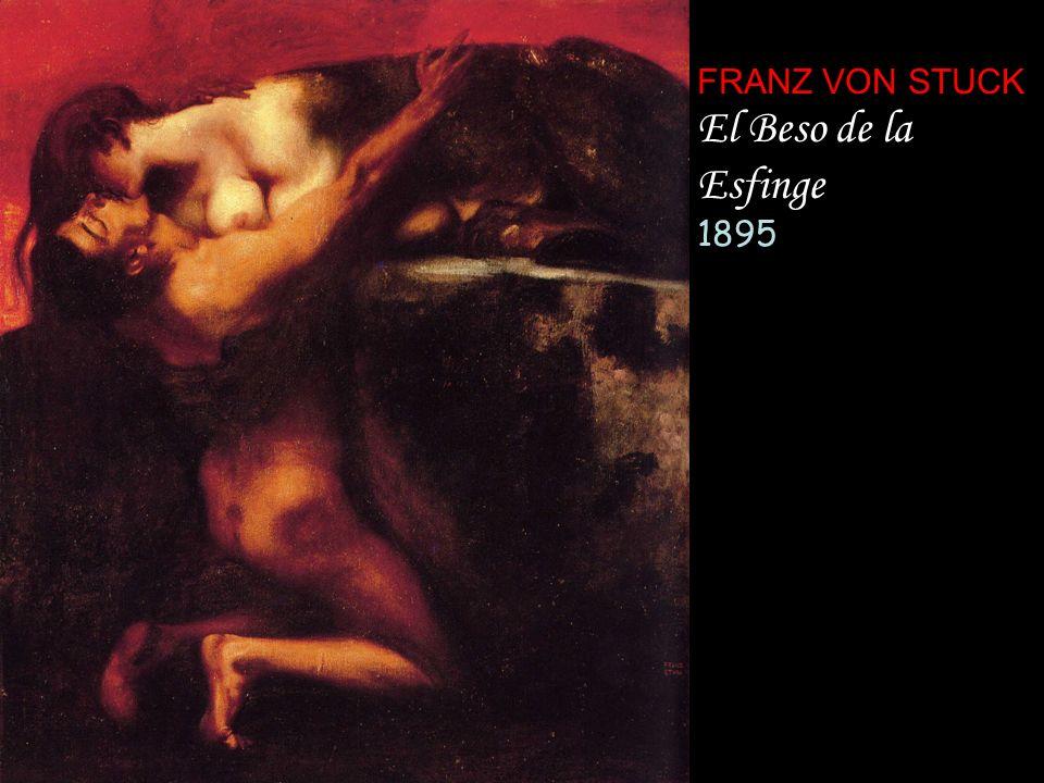 FRANZ VON STUCK El Beso de la Esfinge 1895