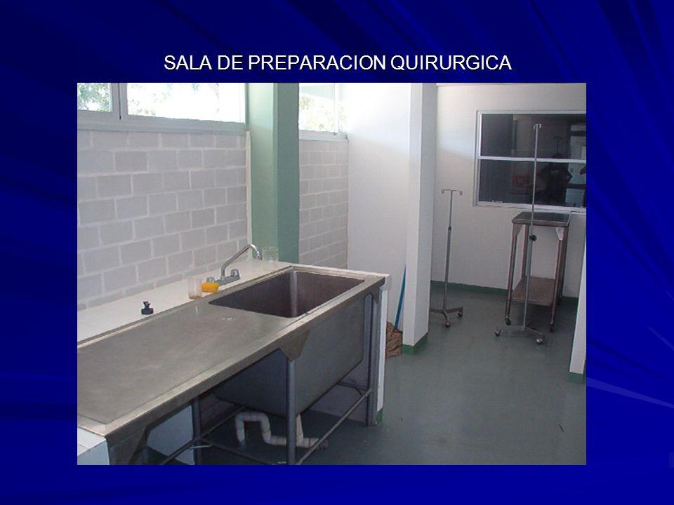 SALA DE PREPARACION QUIRURGICA