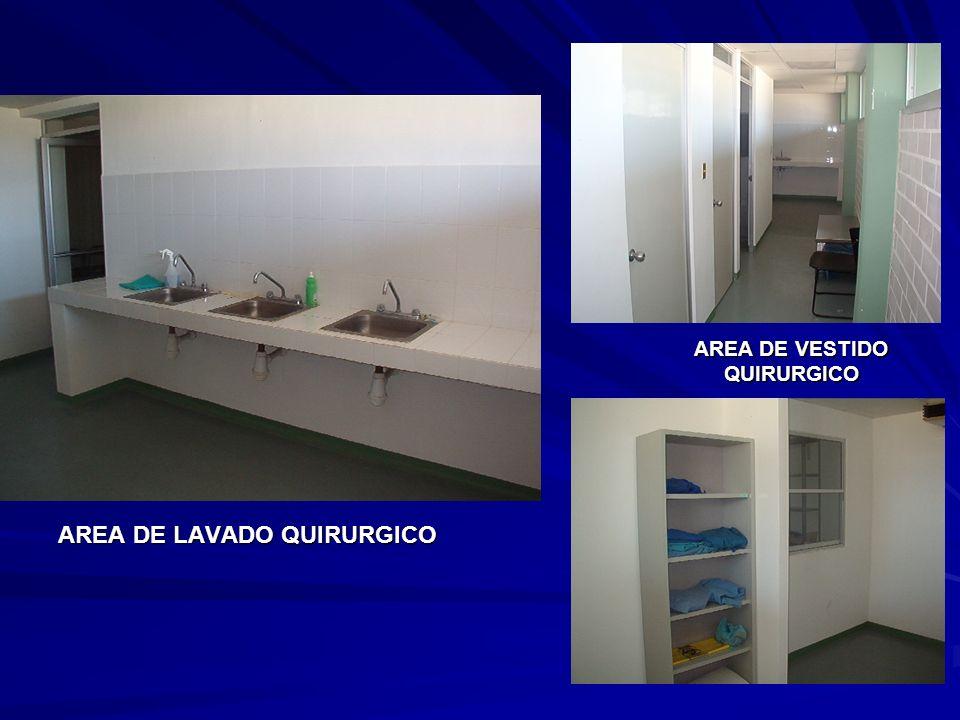 AREA DE LAVADO QUIRURGICO