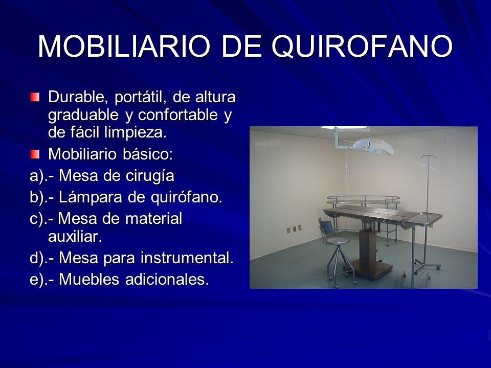 MOBILIARIO DE QUIROFANO