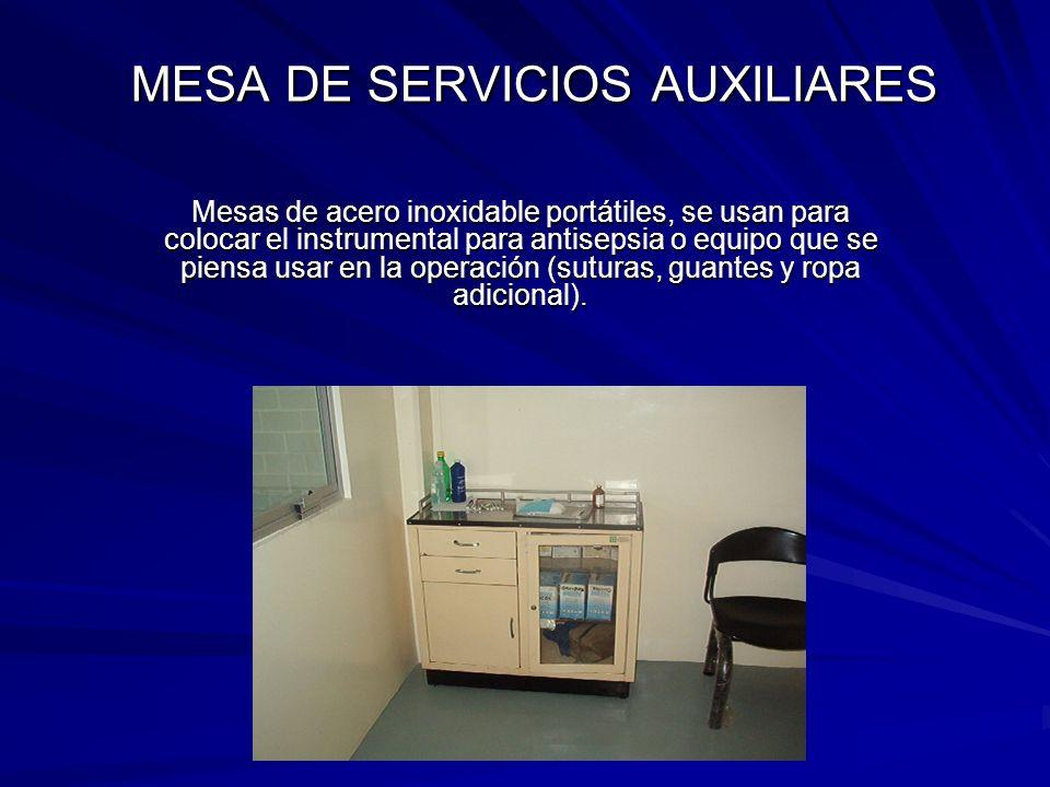 MESA DE SERVICIOS AUXILIARES