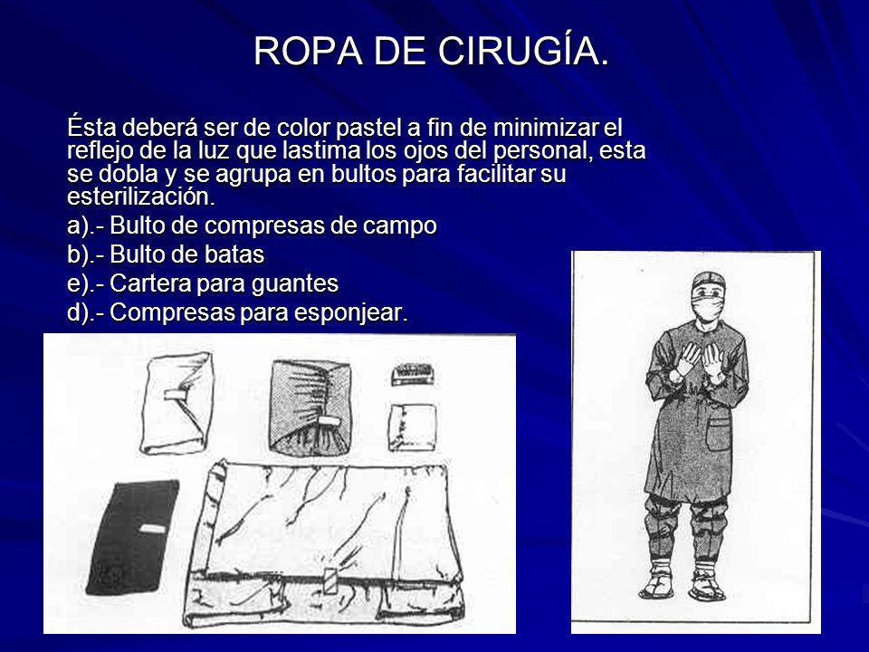 ROPA DE CIRUGÍA.