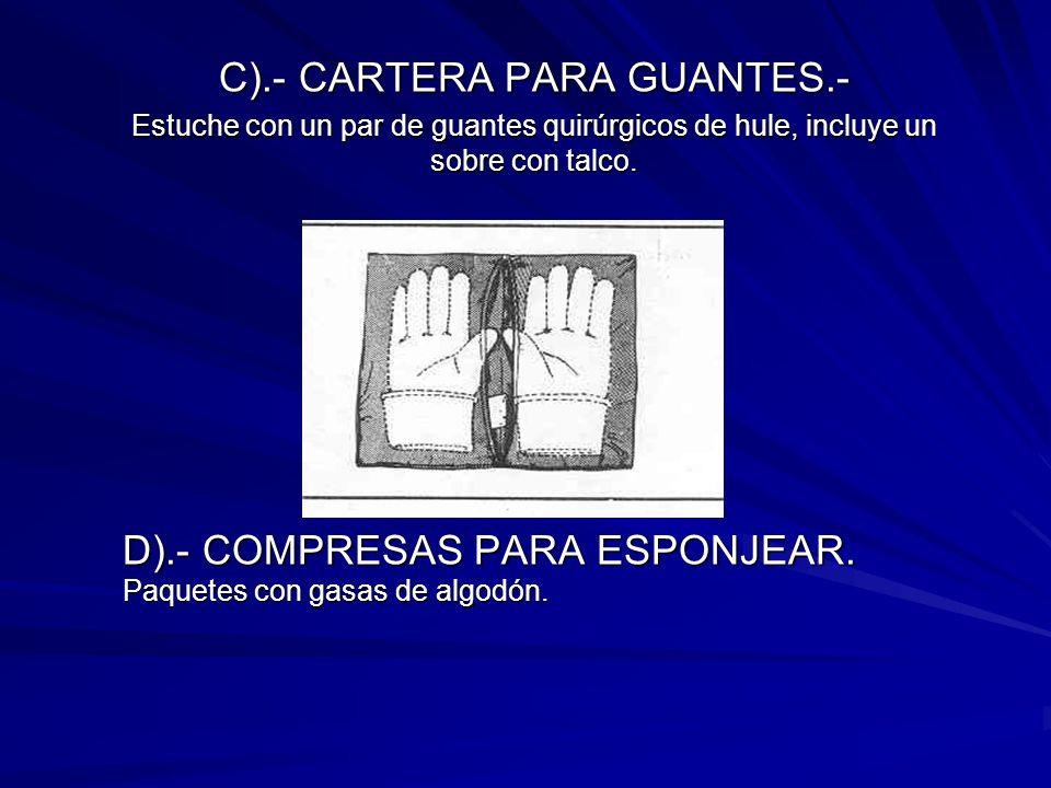 C).- CARTERA PARA GUANTES.-