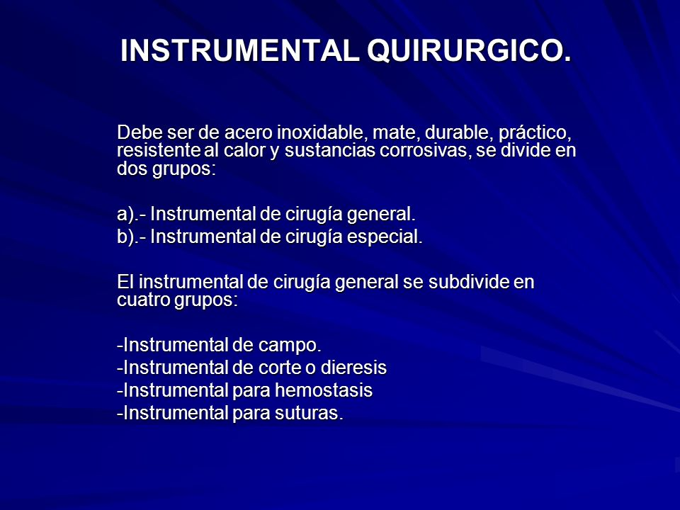 INSTRUMENTAL QUIRURGICO.