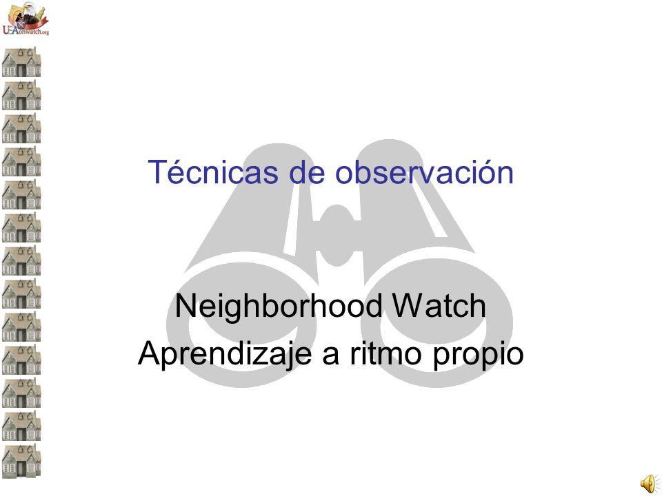Técnicas de observación