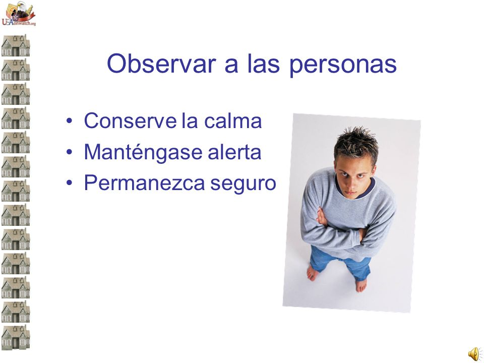 Observar a las personas