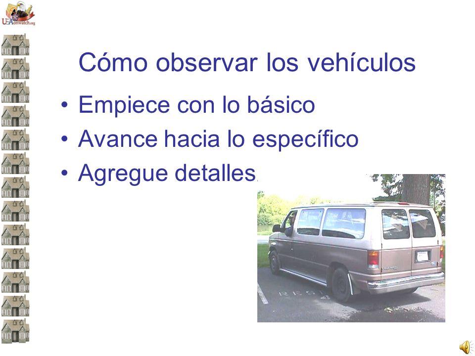 Cómo observar los vehículos