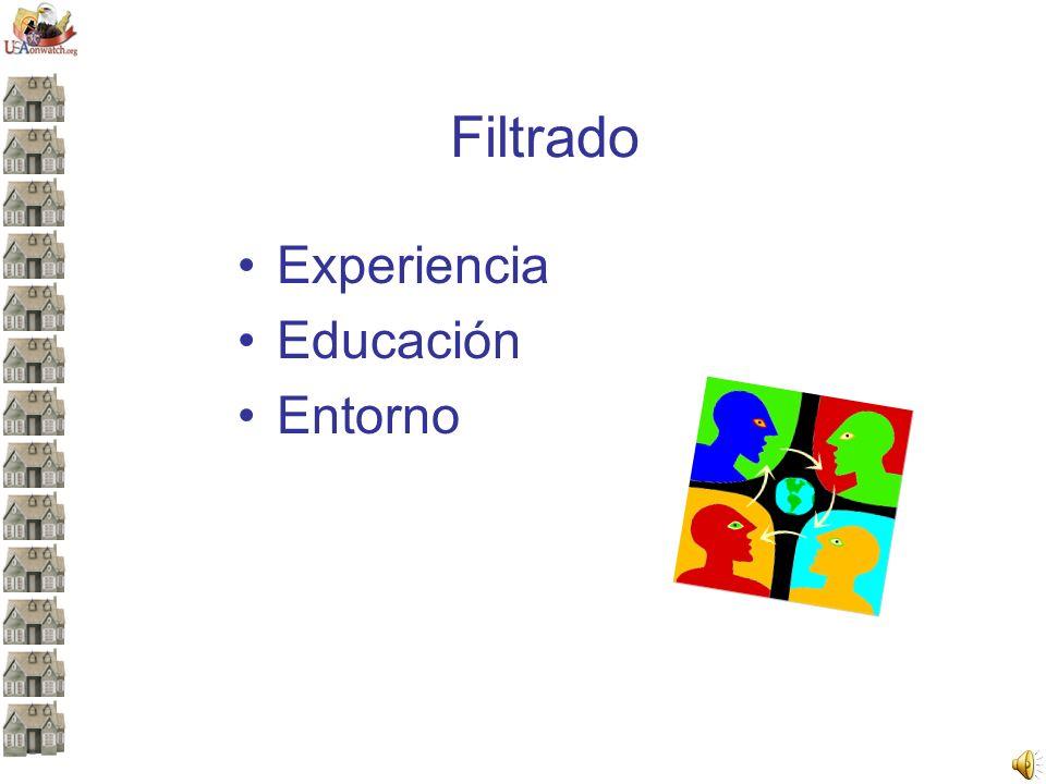 Filtrado Experiencia Educación Entorno
