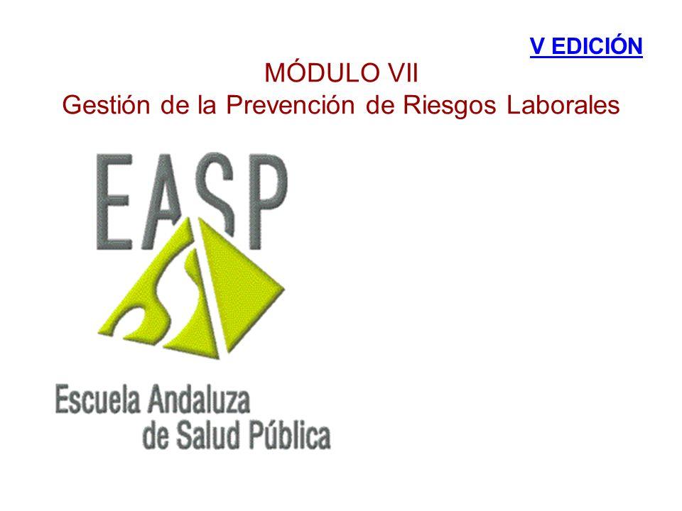 MÓDULO VII Gestión de la Prevención de Riesgos Laborales