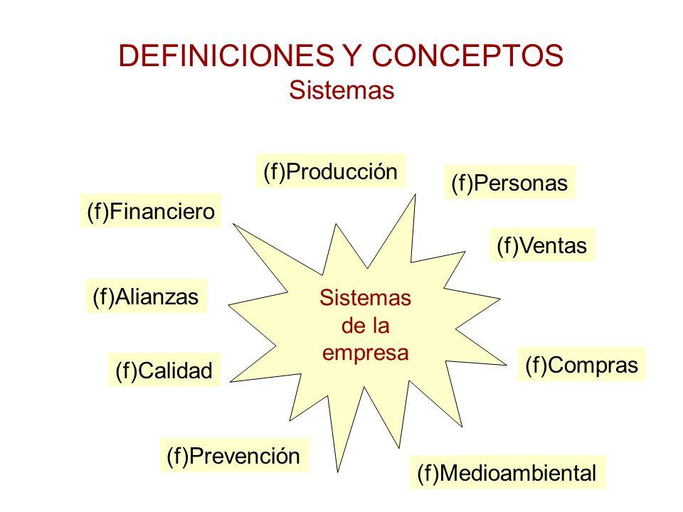 DEFINICIONES Y CONCEPTOS Sistemas
