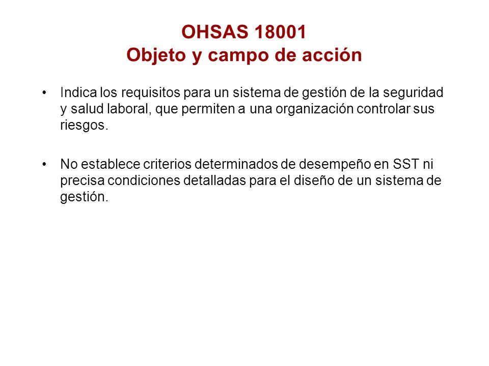 OHSAS 18001 Objeto y campo de acción