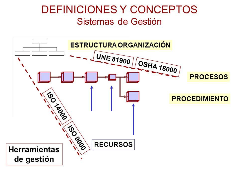DEFINICIONES Y CONCEPTOS Sistemas de Gestión