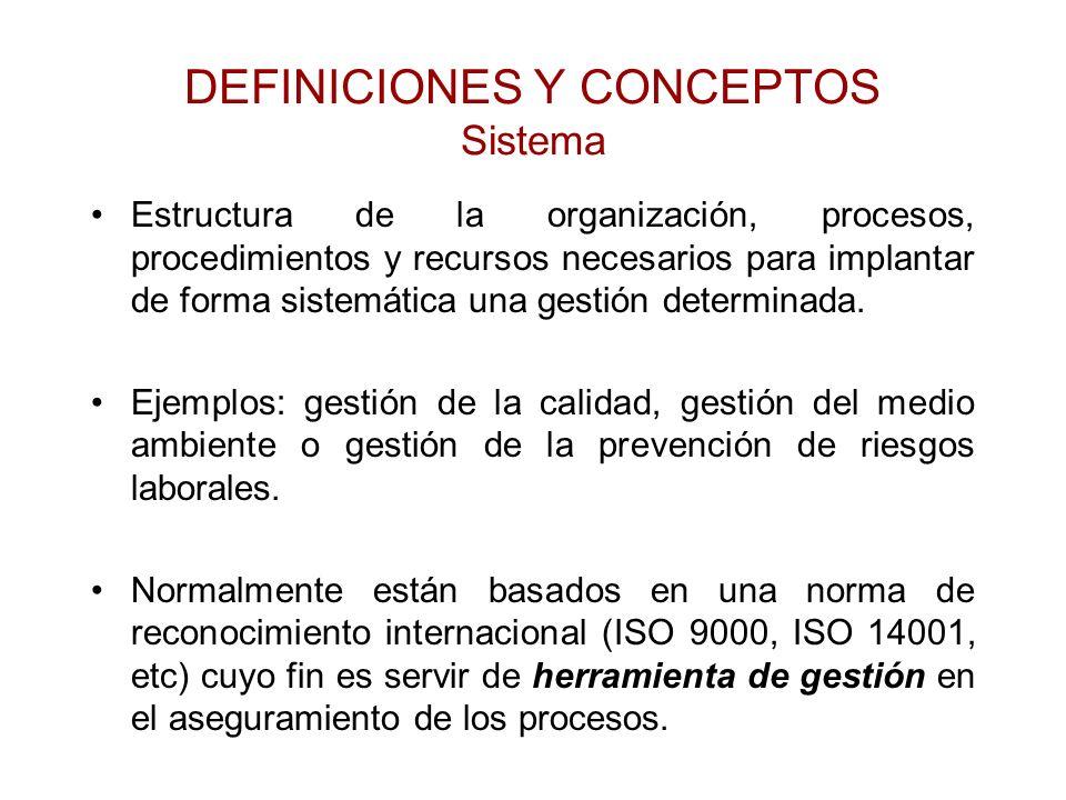 DEFINICIONES Y CONCEPTOS Sistema