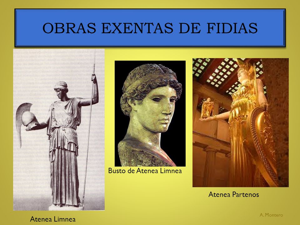 OBRAS EXENTAS DE FIDIAS