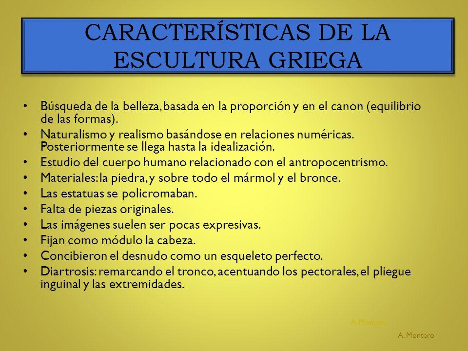 CARACTERÍSTICAS DE LA ESCULTURA GRIEGA