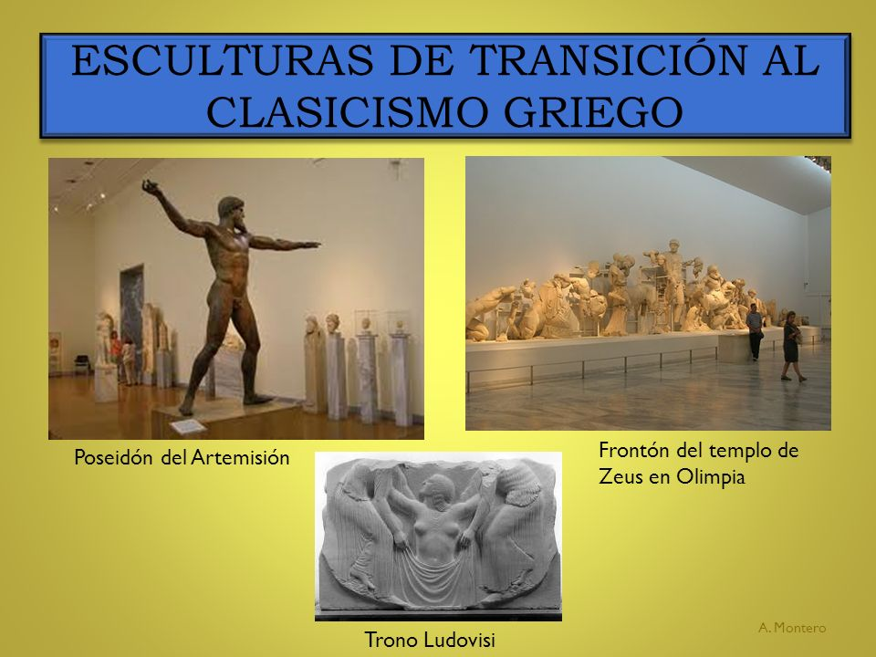 ESCULTURAS DE TRANSICIÓN AL CLASICISMO GRIEGO